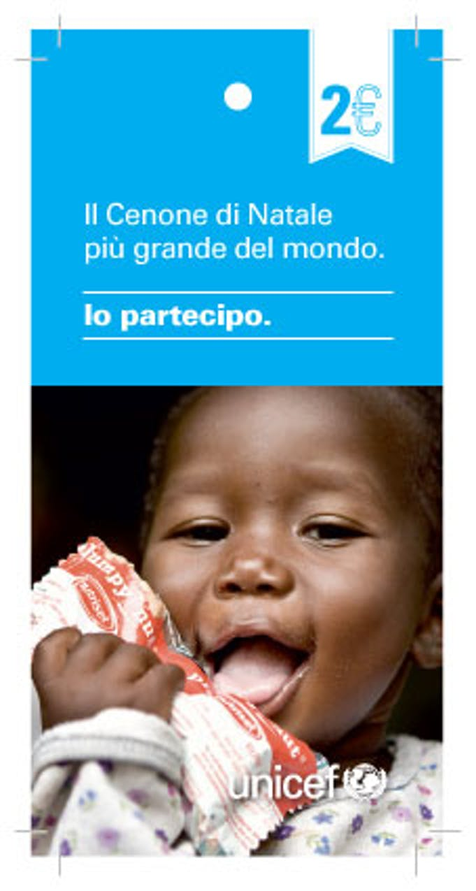 Card UNICEF. Cenone di Natale 2013
