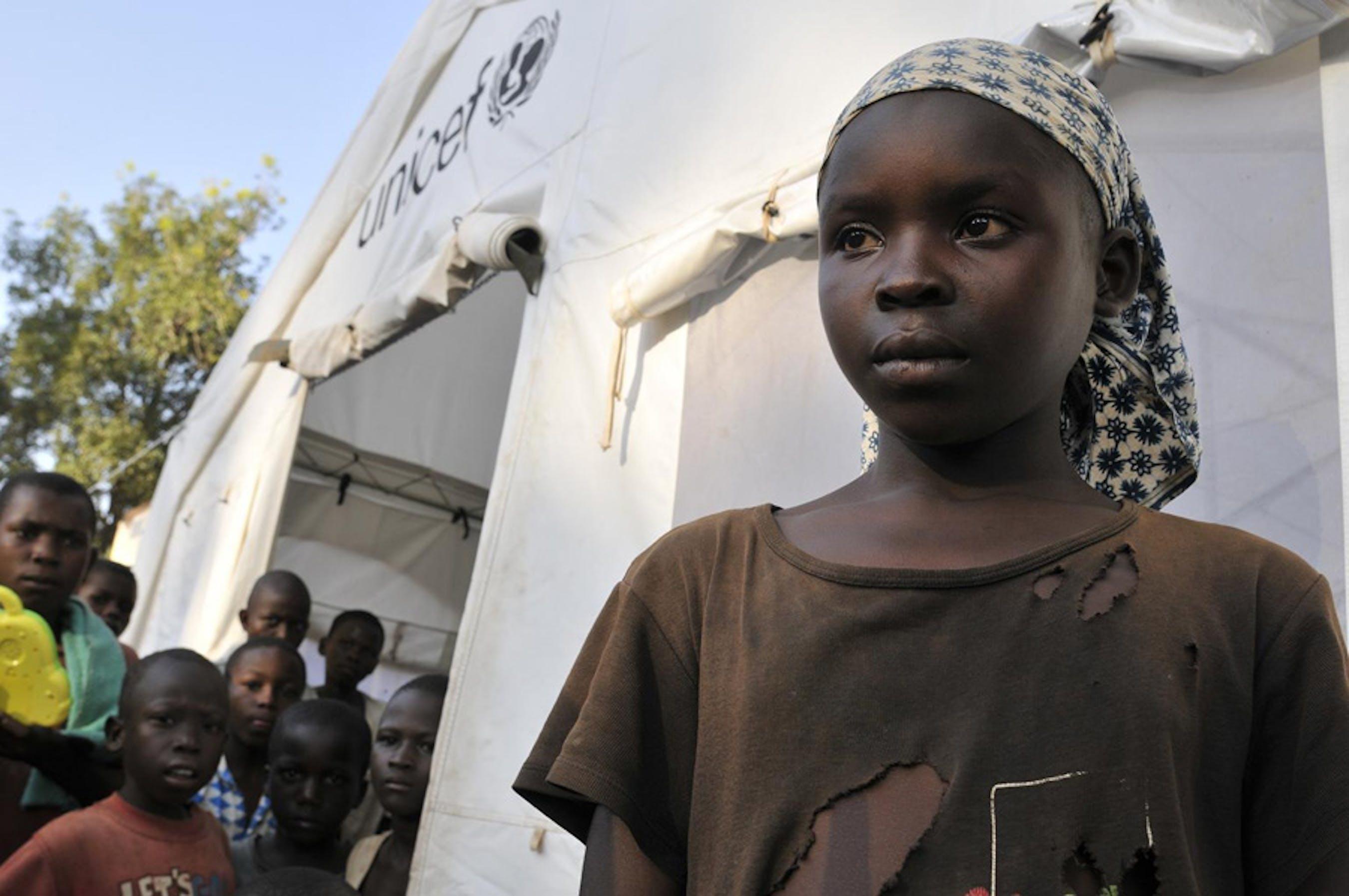 Felicia, 13 anni: come molti altri bambini di Bossangoa (Repubblica Centrafricana), viene ogni giorno allo