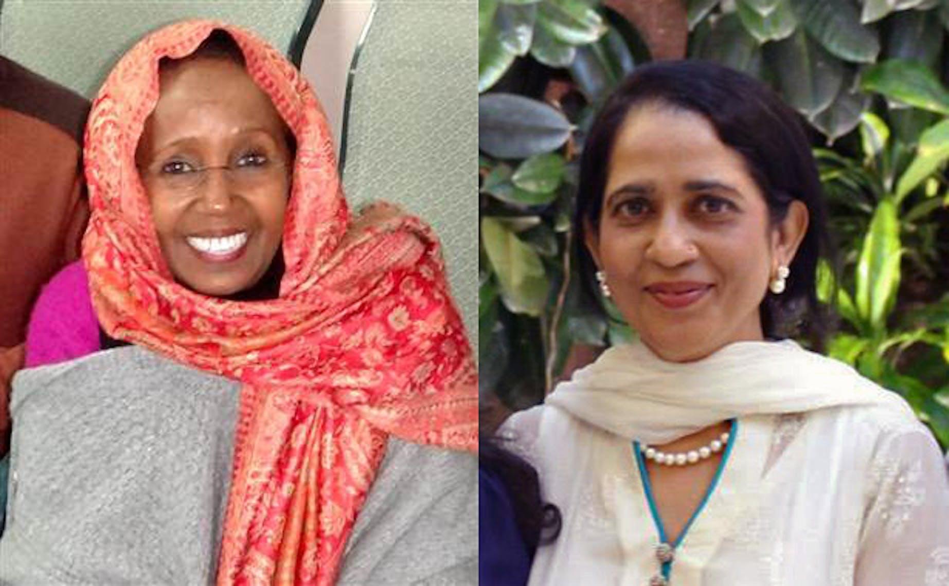 Da sin.: Basra Hassan e Nasreen Khan, le due operatrici UNICEF uccise nell'attentato a Kabul del 17 gennaio 2014