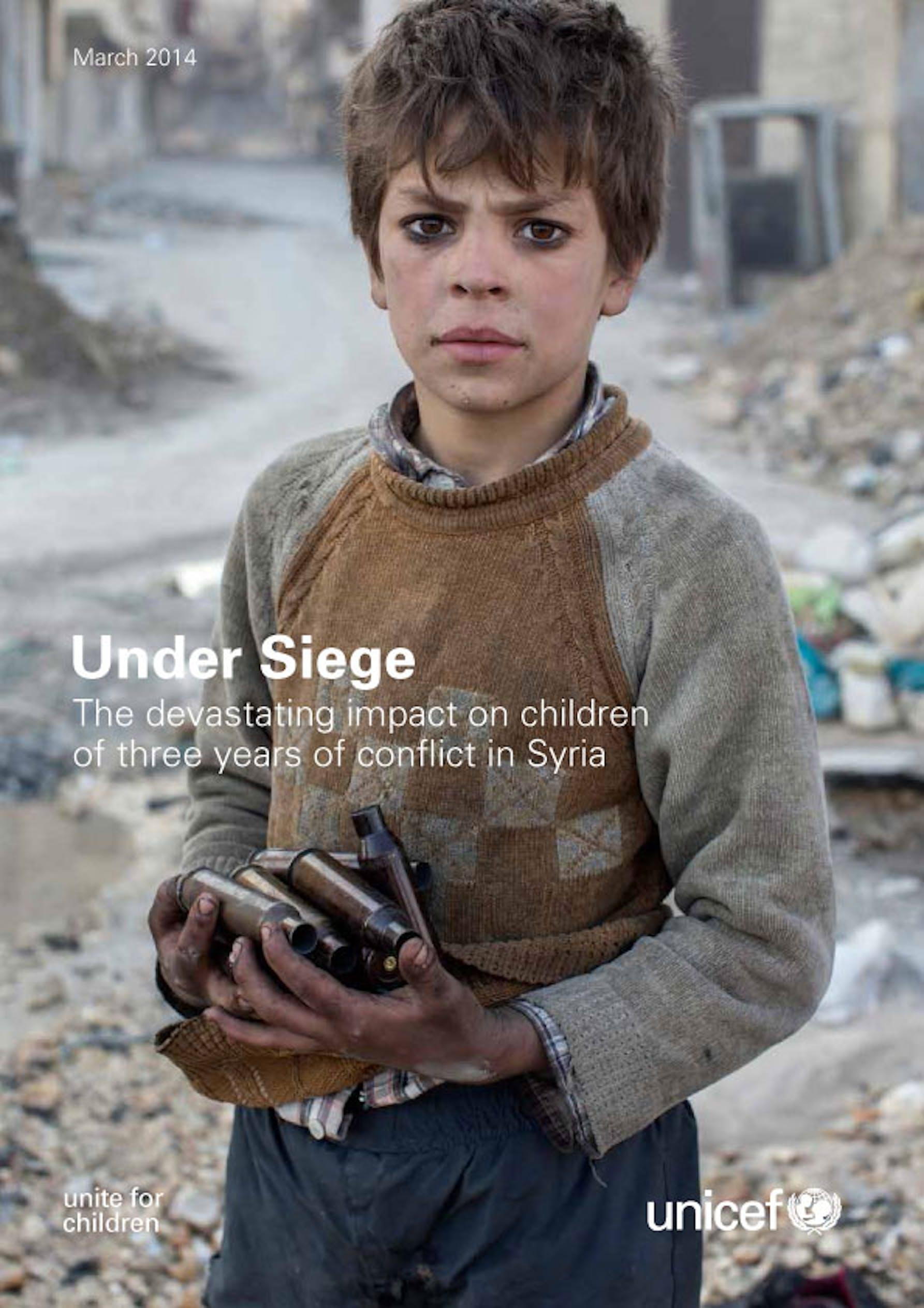 La copertina del rapporto UNICEF
