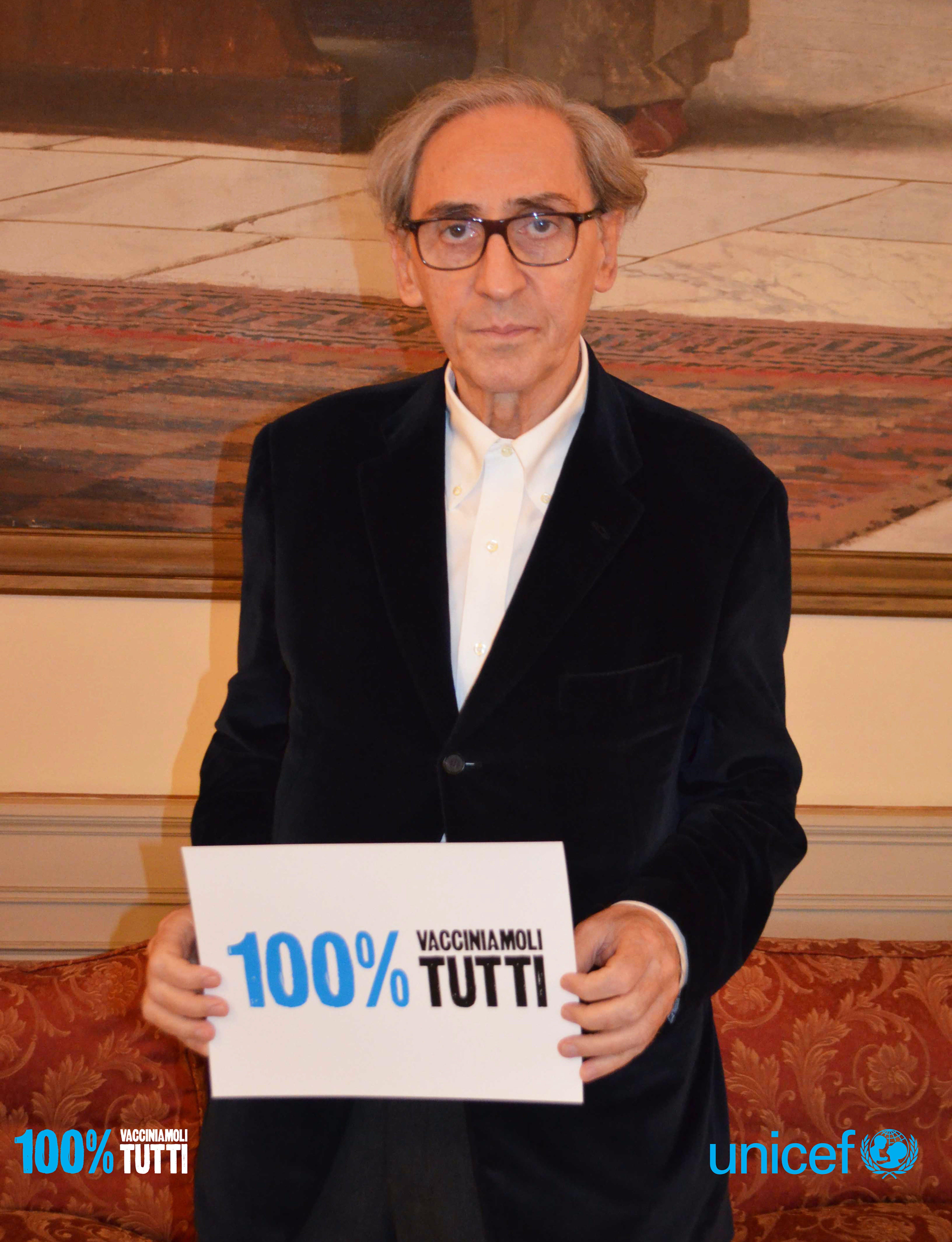 Franco Battiato per la campagna UNICEF