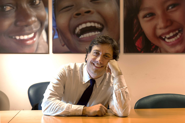 Andrea Iacomini, portavoce dell'UNICEF Italia - ©UNICEF Italia/2014/Alessandro Longobardi