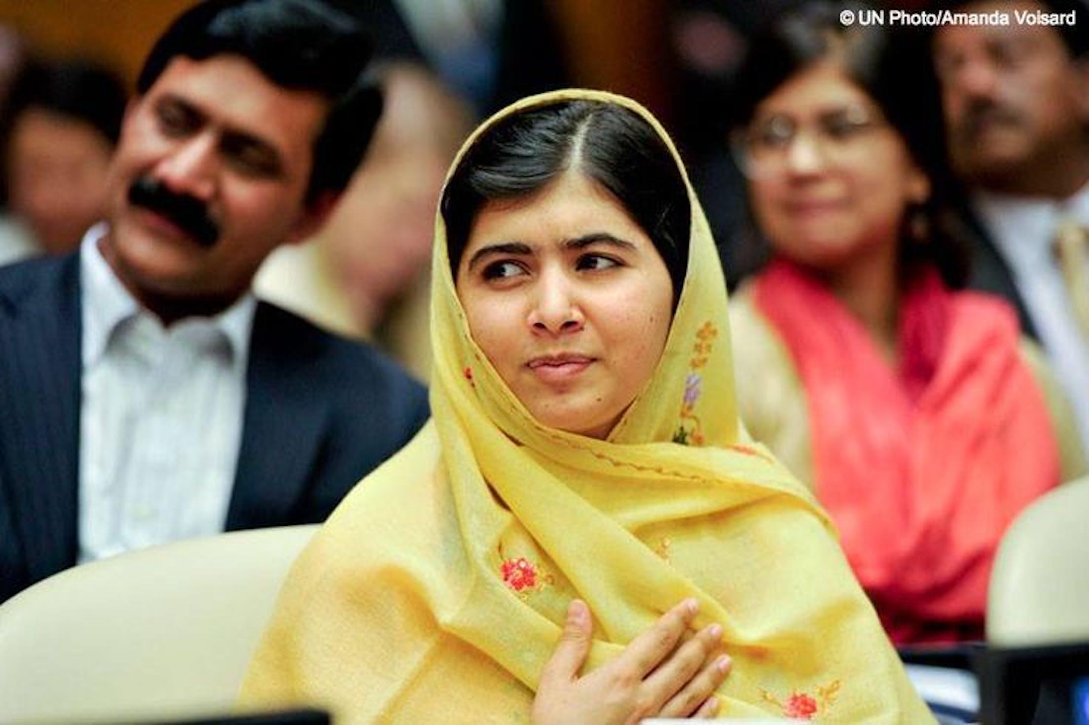 Malala Yousufzai, vinitrice del Premio Nobel 2014 insieme all'attivista per i diritti dei bambini in India Kailash Satyarthi