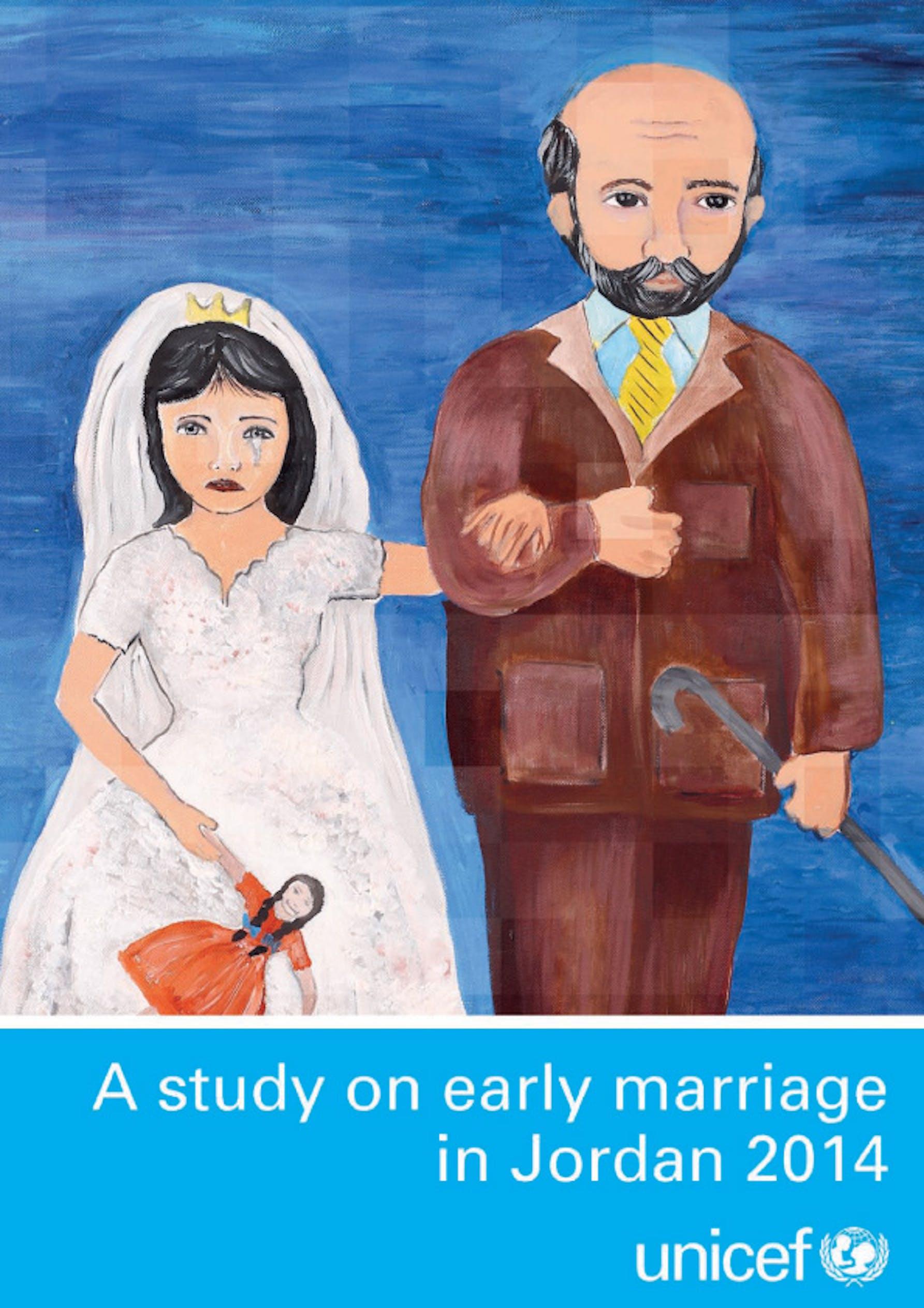 La copertina dello studio UNICEF sui matrimoni precoci in Giordania