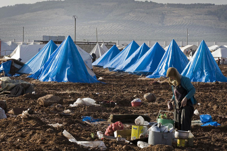 Il campo per sfollati di Bab Al Salam, nel nord della Siria ai confini con la Turchia - ©UNICEF/NYHQ2014-0009/Giovanni Diffidenti