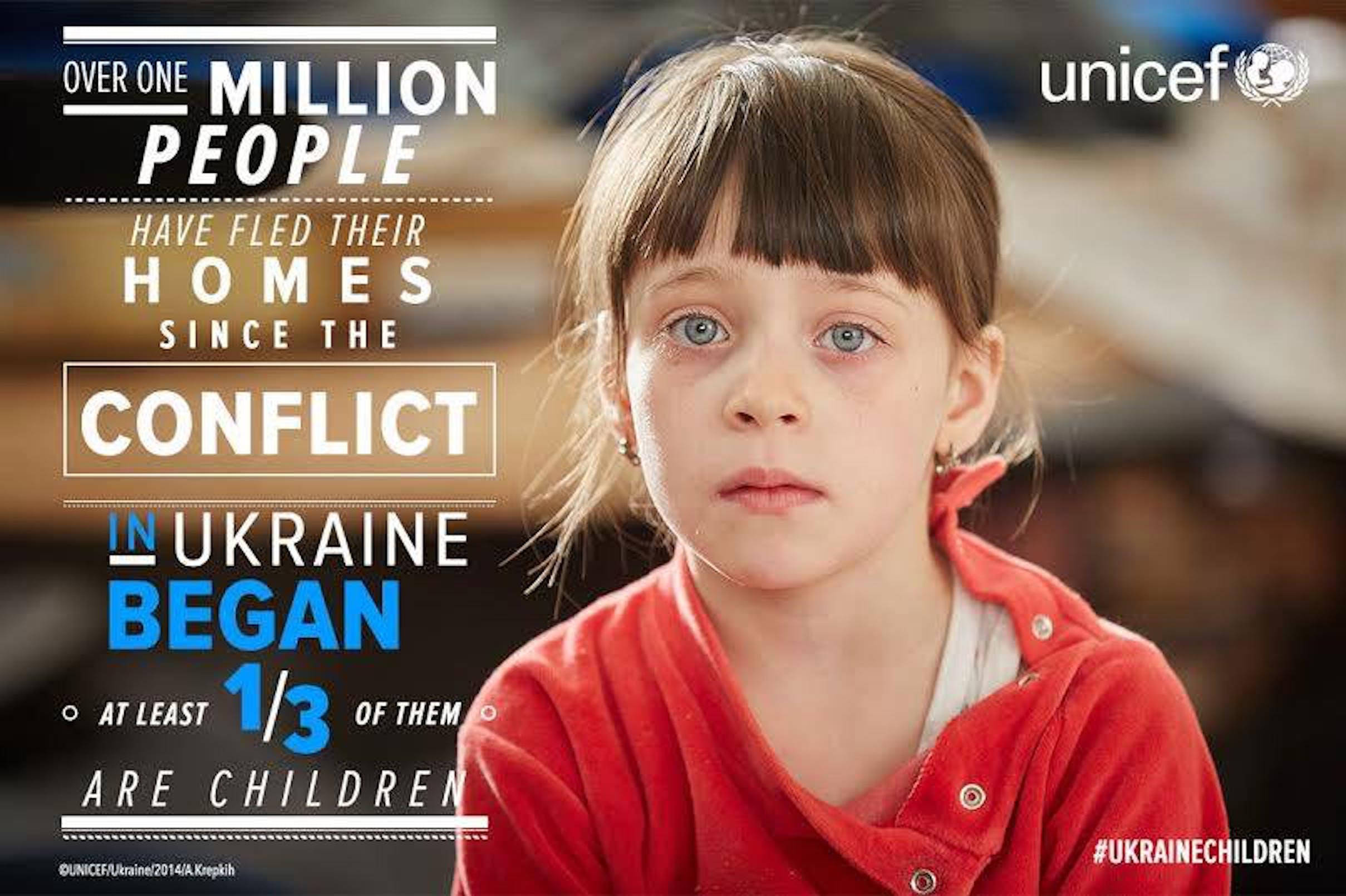 In Ucraina, un milione di sfollati ha dovuto abbandonare la propria casa per il conflitto, un terzo degli sfollati sono minori