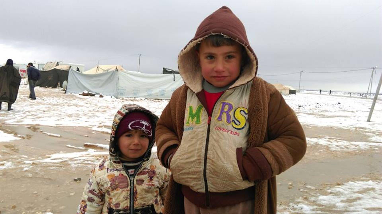 Due bambini siriani nel campo profughi di Za'atari, in Giordania - ©UNICEF Giordania/2015