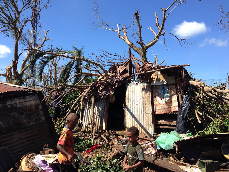 Una scena di devastazione a Vanuatu - ©UNICEF/2015