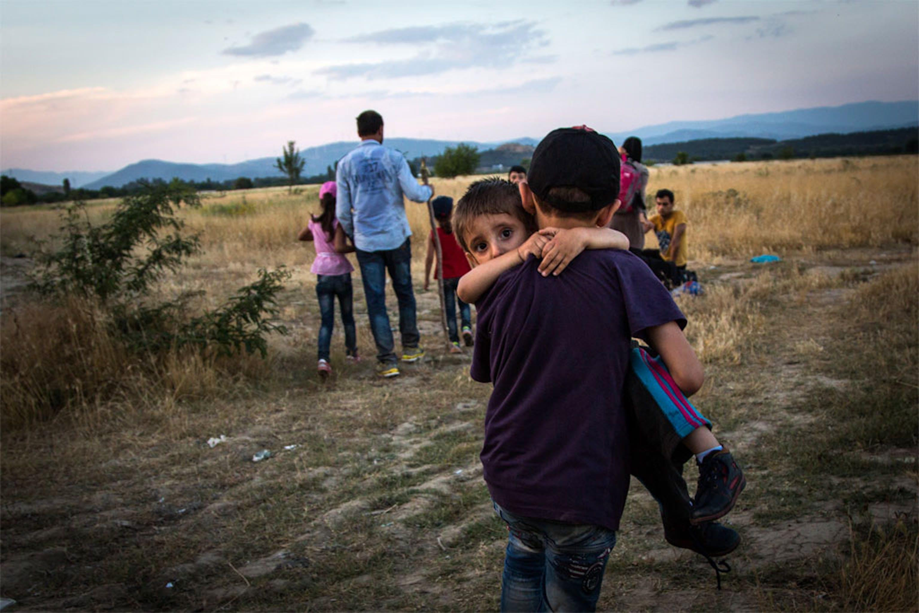 Profughi siriani alla frontiera tra Macedonia e Grecia - ©UNHCR/2015/A. McConnell