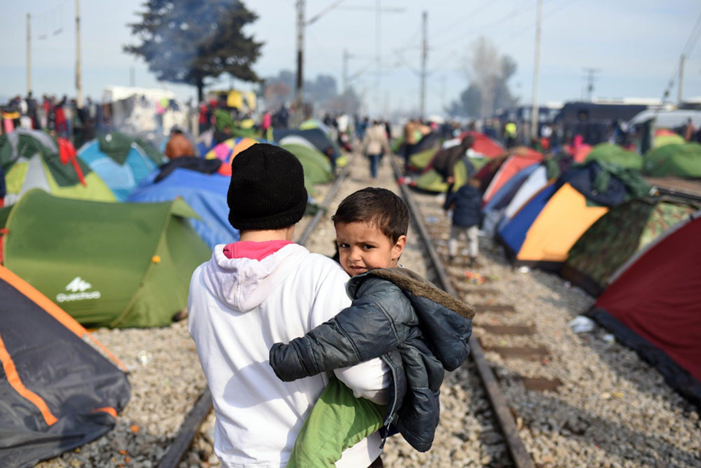 Idomeni, posto di frontiera nella Grecia settentrionale - ©UNICEF/UN012792/Georgiev