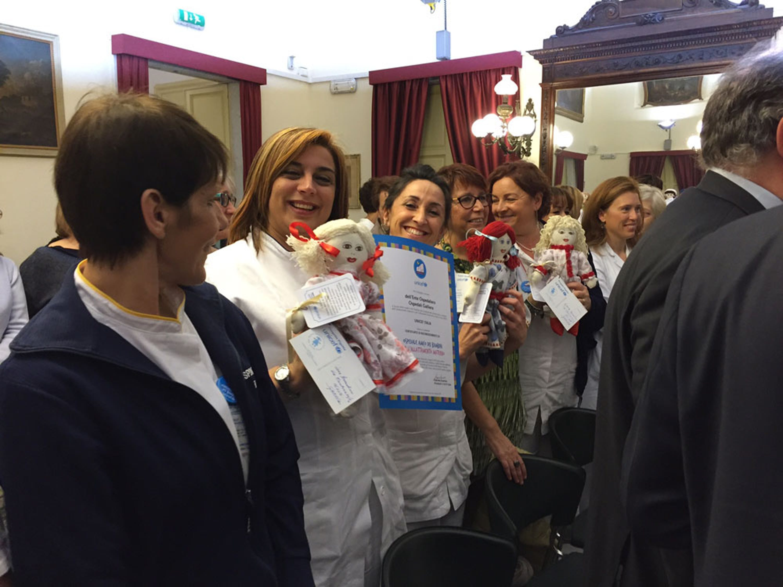 Un momento della cerimonia di riconoscimento dell'Ente Ospedaliero