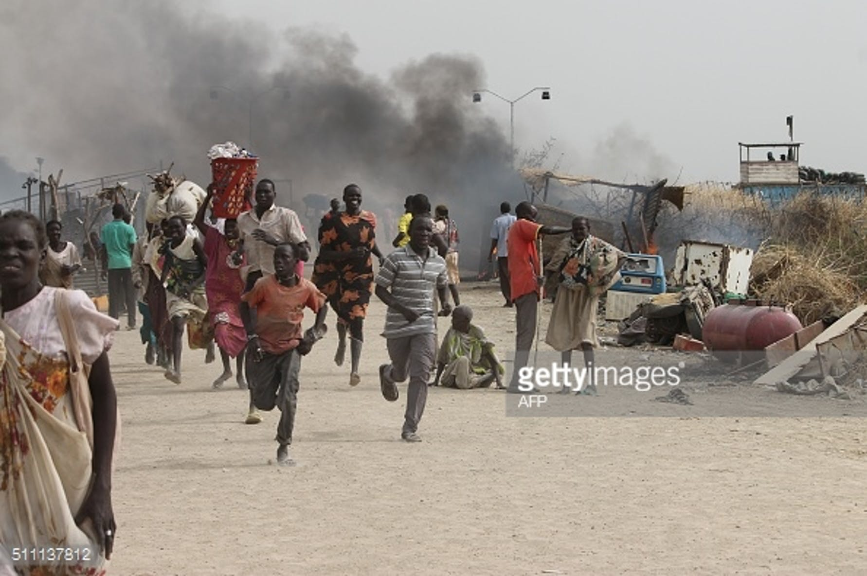 Civili sud sudanesi in fuga dal conflitto  JUSTIN LYNCH/AFP/Getty Images)
