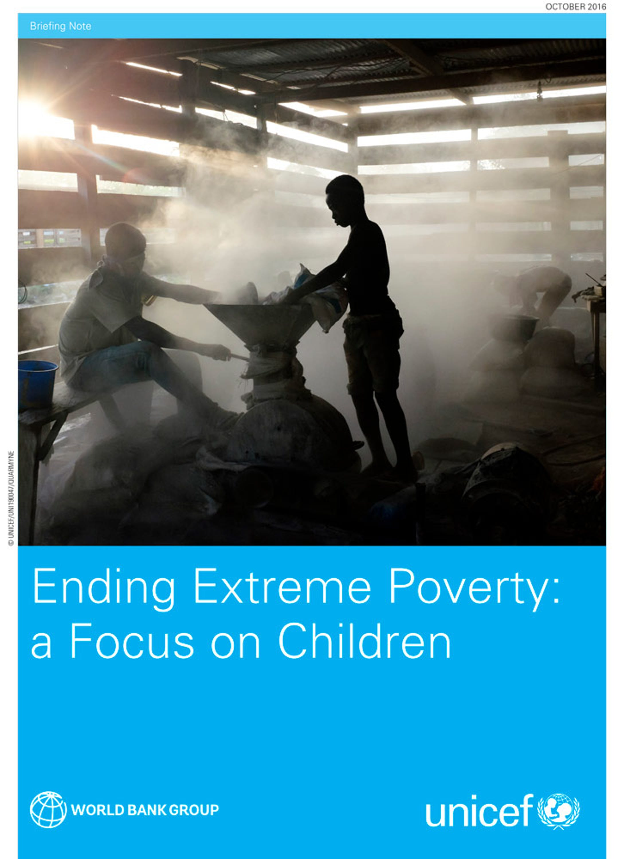 Rapporto UNICEF-Banca Mondiale, 385 milioni di bambini vivono in povertà estrema