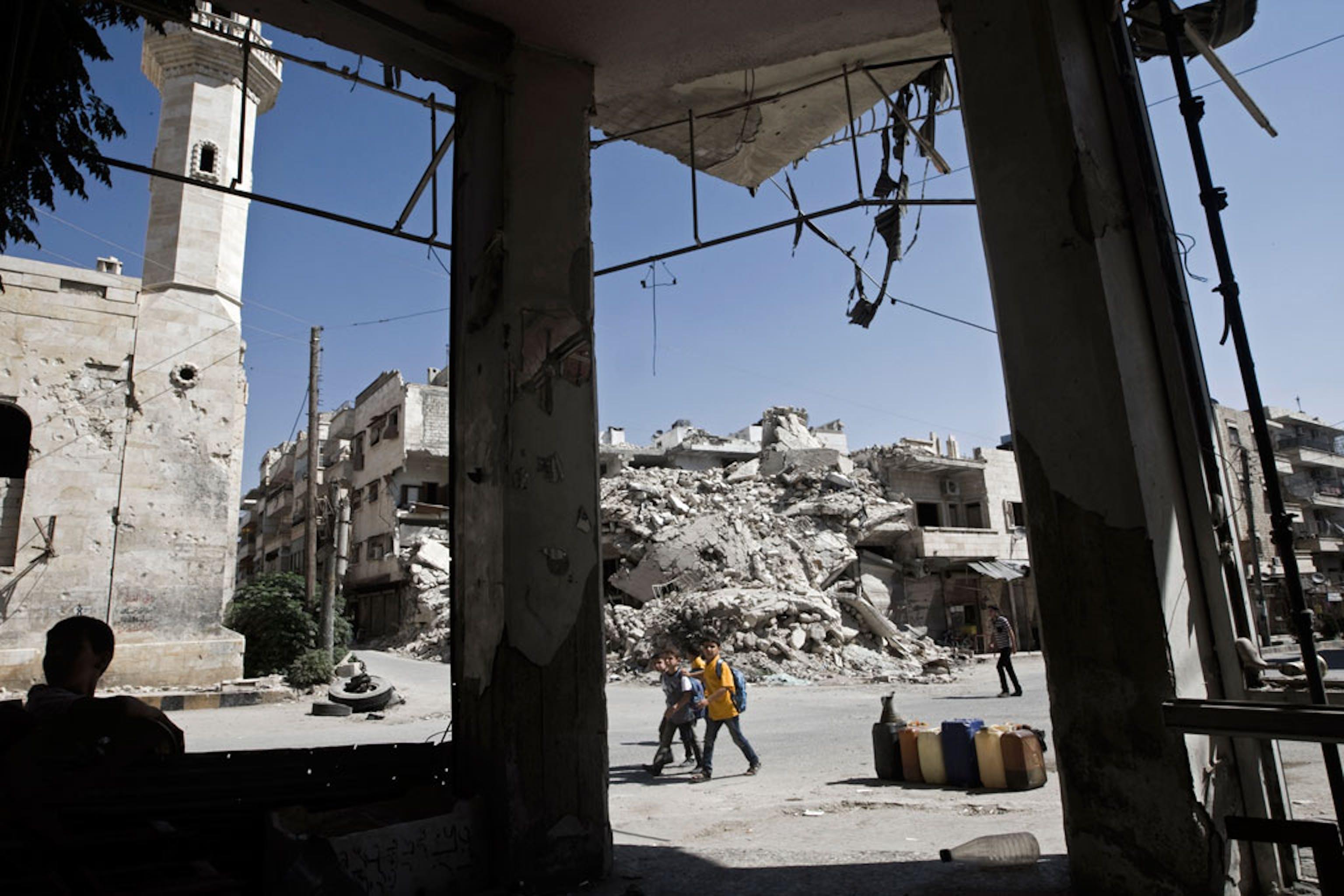 Edifici distrutti in una cittadina del governatorato di Idlib, nel nord-ovest della Siria - ©UNICEF/Giovanni Diffidenti