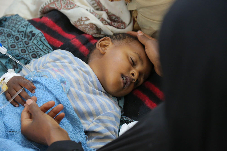 Un bambino in terapia per sospetto colera nell'ospedale pediatrico