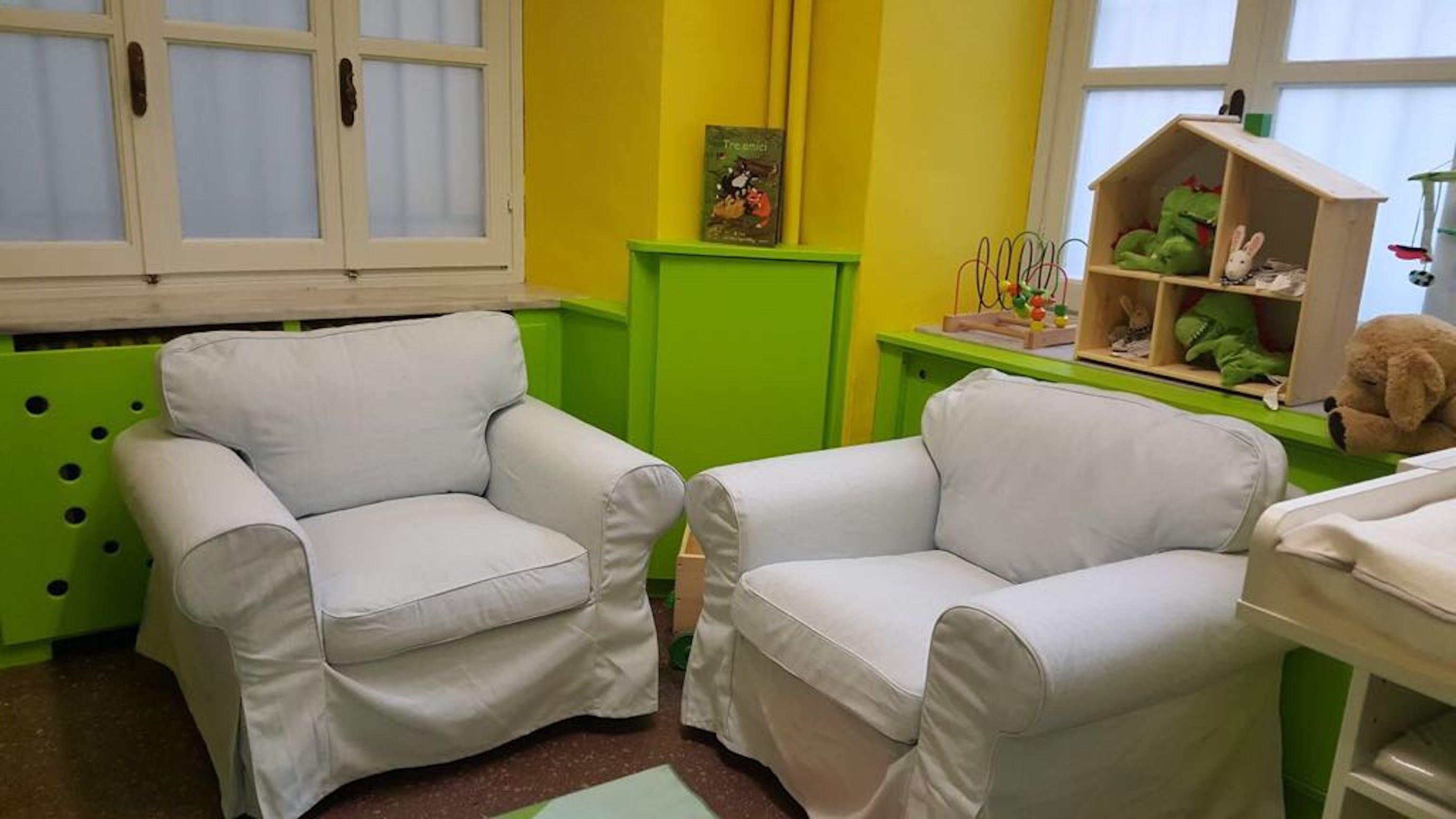 Un particolare del Baby Pit Stop inugurato a Palazzo Civico, sede del Comune di Torino - ©UNICEF Italia/2017/M.Trapanelli