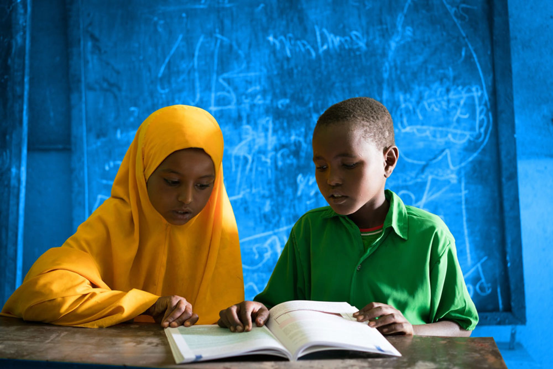 Nimo e Mohamad, alunni di una scuola in Etiopia - ©UN074462/Lister