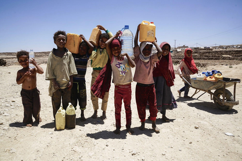 Bambini del campo per sfollati di Khamir, nello Yemen - ©UNICEF/UN073957/Clarke for UNOCHA