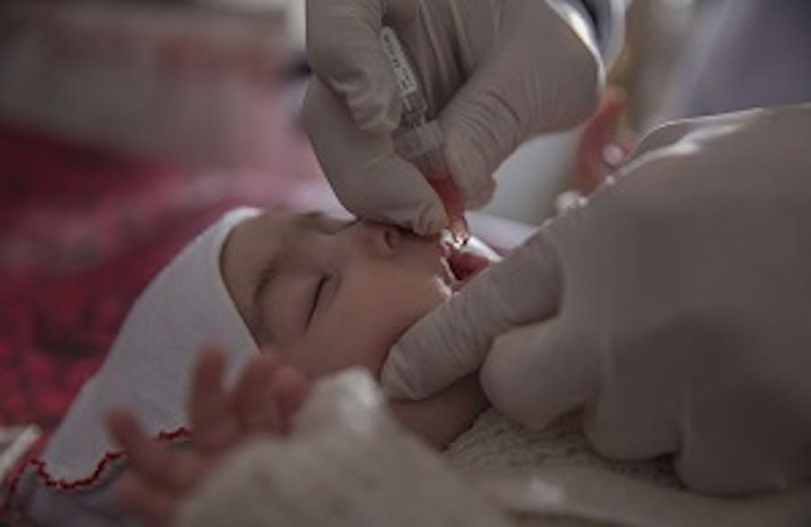 L'UNICEF ha vaccinato mezzo milione di bambini nel governatorato di Ninewa contro la polio e il morbillo © UNICEF/Anmar