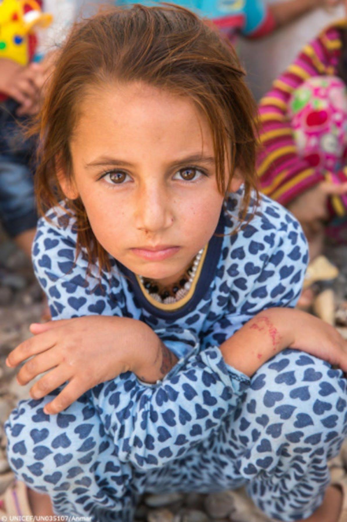 Noor, una bambina che vive in un campo per sfollati nel nord dell'Iraq - ©UNICEF Iraq/2018
