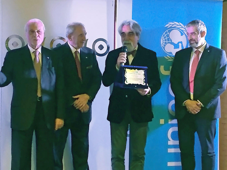 Un momento della cerimonia di nomina di Beppe Vessicchio a Goodwill Ambassador UNICEF - ©UNICEF Italia/2018/C.Ricci