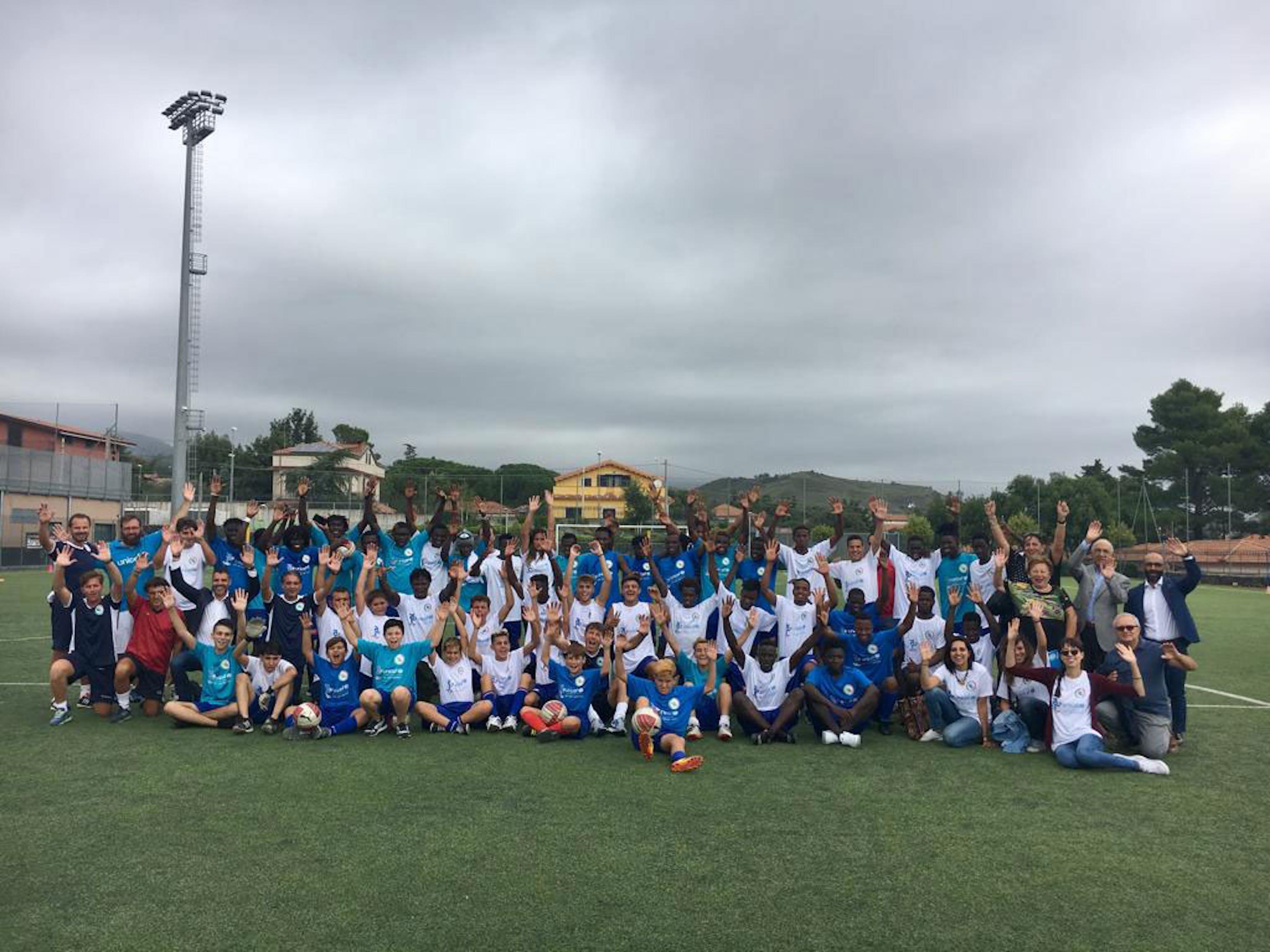 Un momento del camp organizzato da AIC Onlus e UNICEF Italia a Torre del Grifo (CT)