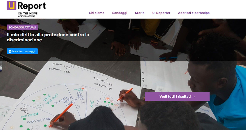 La piattaforma digitale U-Report on the Move