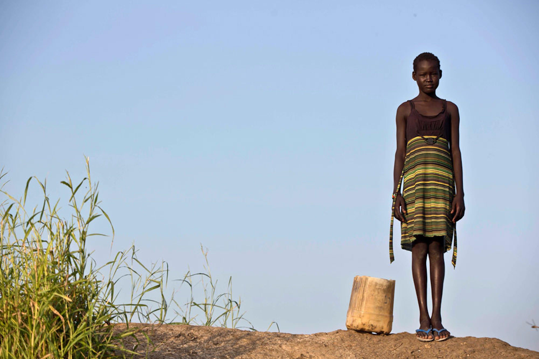 Una ragazza nel Centro di protezione per i civili dei Caschi blu delle Nazioni Unite a Bentiu (Sud Sudan) - ©UNICEF/UN043942/Holt