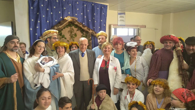 Un momento della visita del Presidente dell'UNICEF Italia F. Samengo all'Ospedale Metropolitano di Reggio Calabria - ©UNICEF Italia/2018