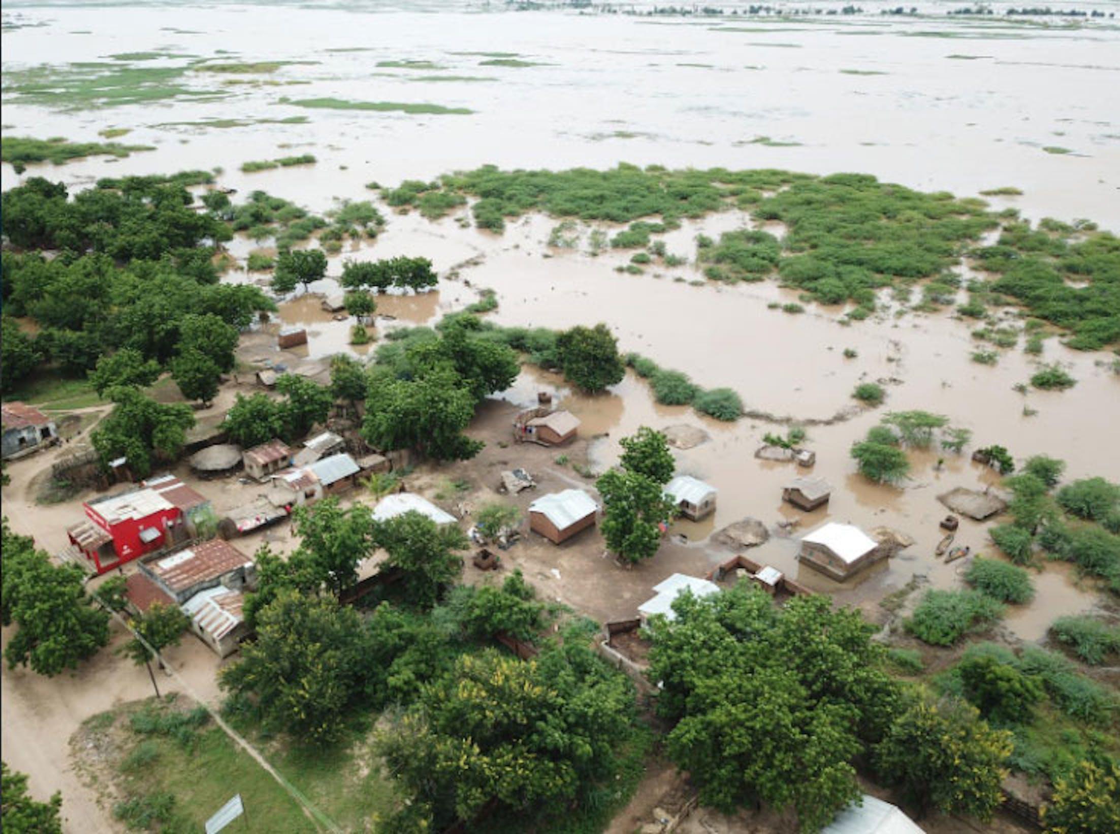 Un'immagine aerea di una zona del Malawi colpita dal ciclone tropicale Idai - ©UNICEF Malawi