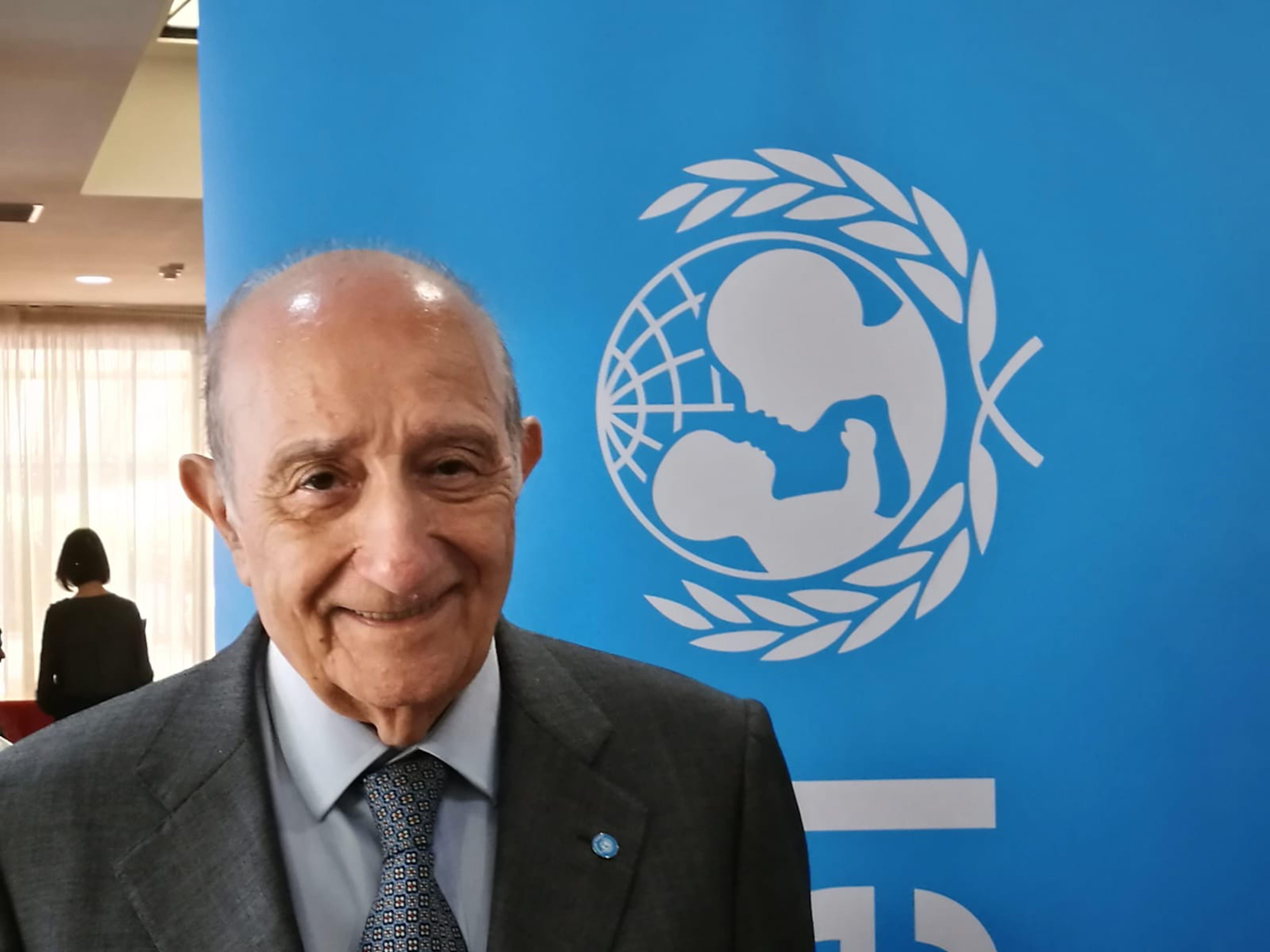 Il Presidente dell'UNICEF Italia Francesco Samengo - ©UNICEF Italia/2019