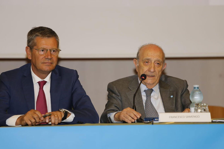 Il Presidente dell'UNICEF Italia Francesco Samengo e il Capo del Corpo Nazionale dei Vigili del Fuoco Fabio Dattilo - ©UNICEF Italia/2019/A.Longobardi