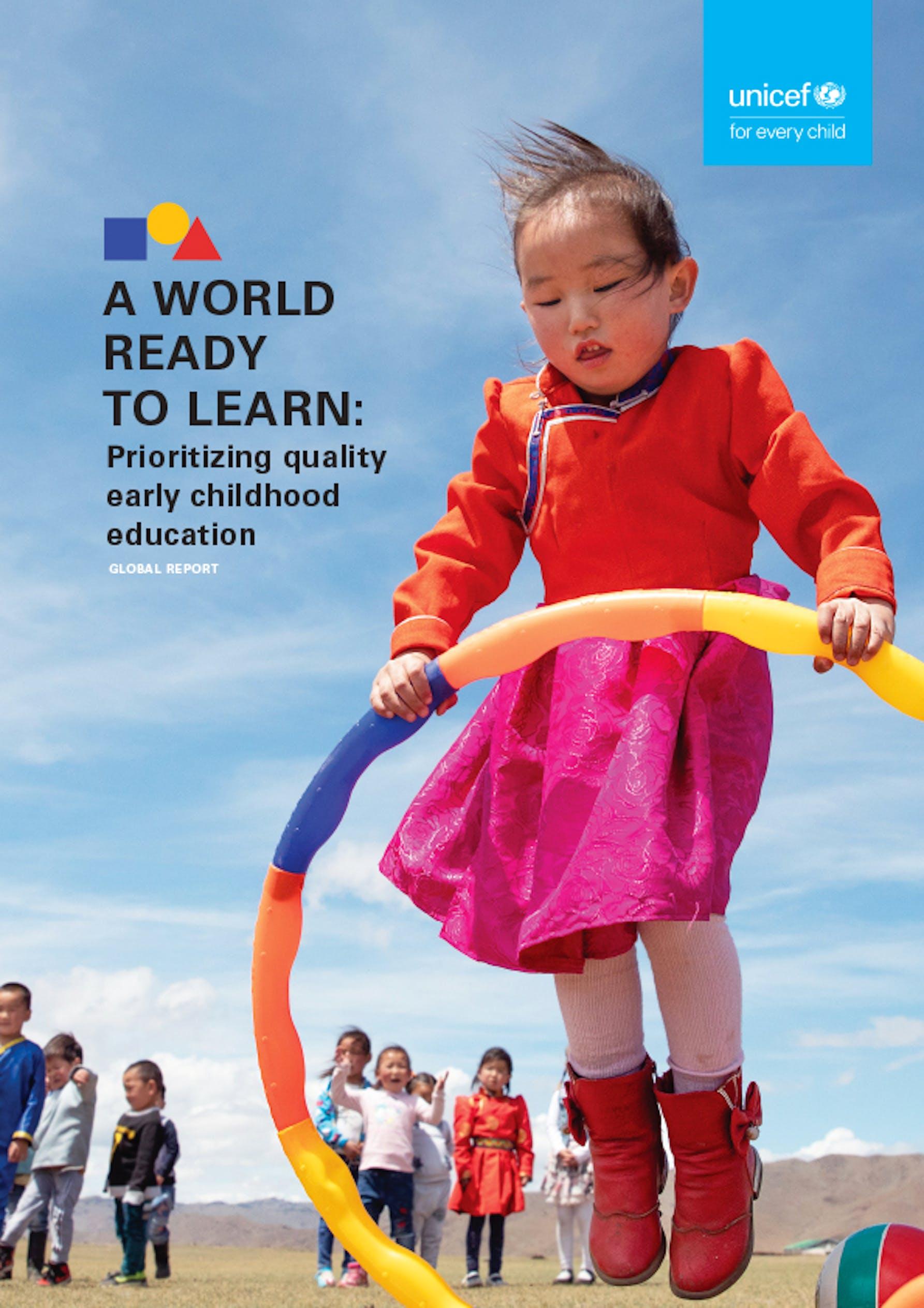 Nel mondo 175 milioni di bambini senza scuola per l'infanzia