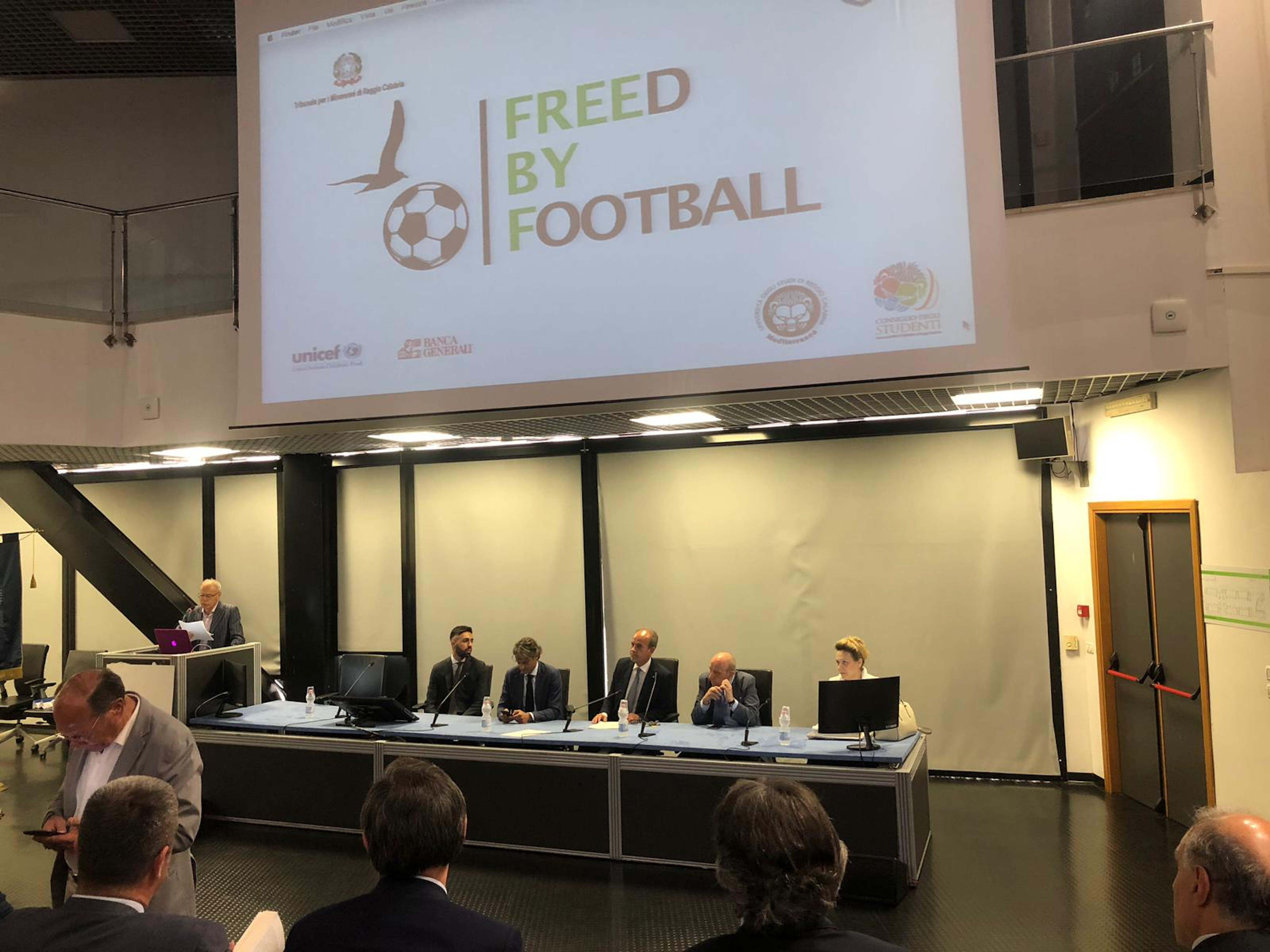 Il Presidente dell'UNICEF Italia F. Samengo e gli altri componenti del tavolo di presidenza dell'evento - ©UNICEF Italia/2019/Tavella