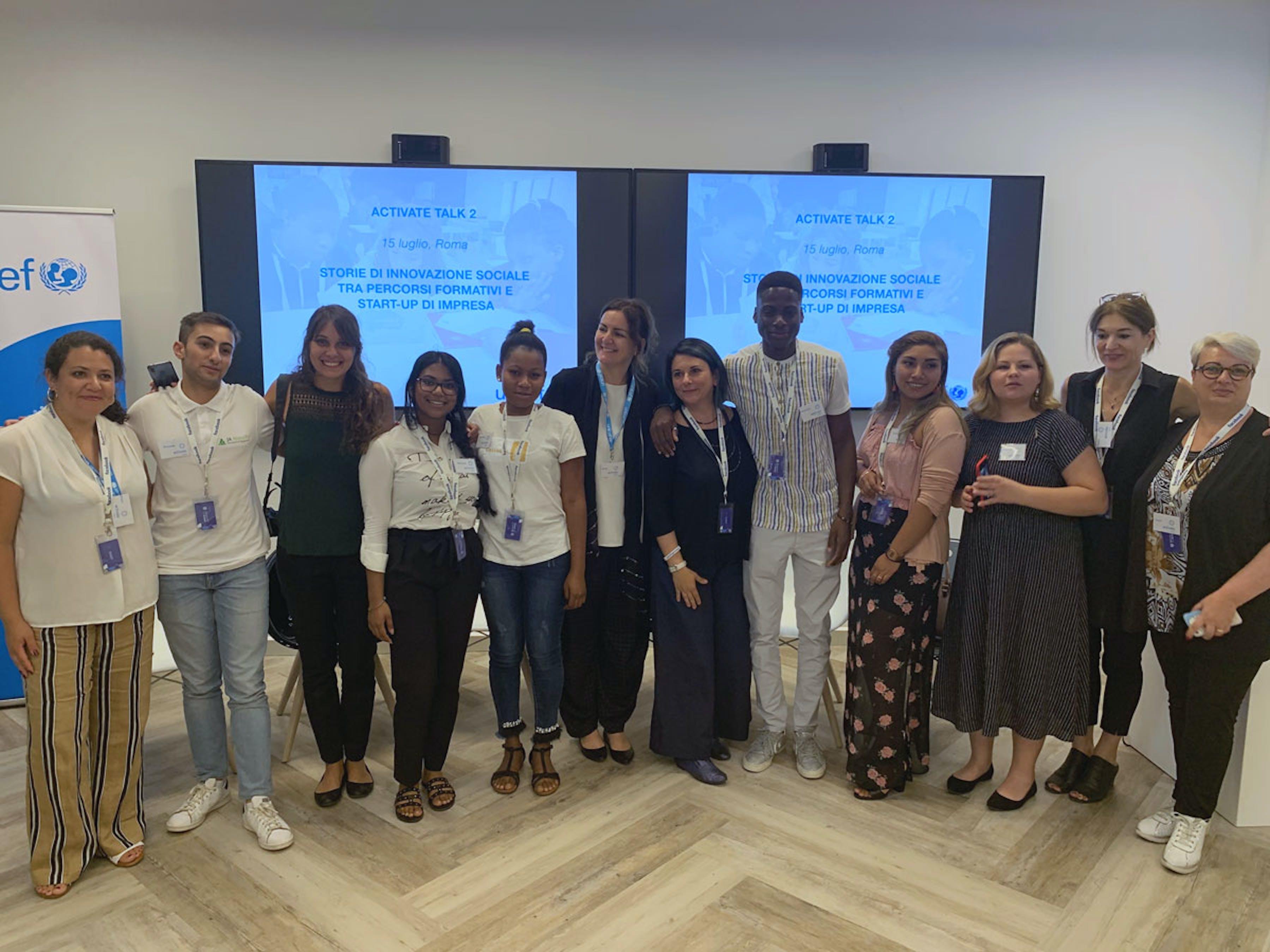 I giovani relatori di Activate Talks Italia #2 (Roma, 15 luglio 2019) - ©UNICEF Italia/2019/G.Ferzi