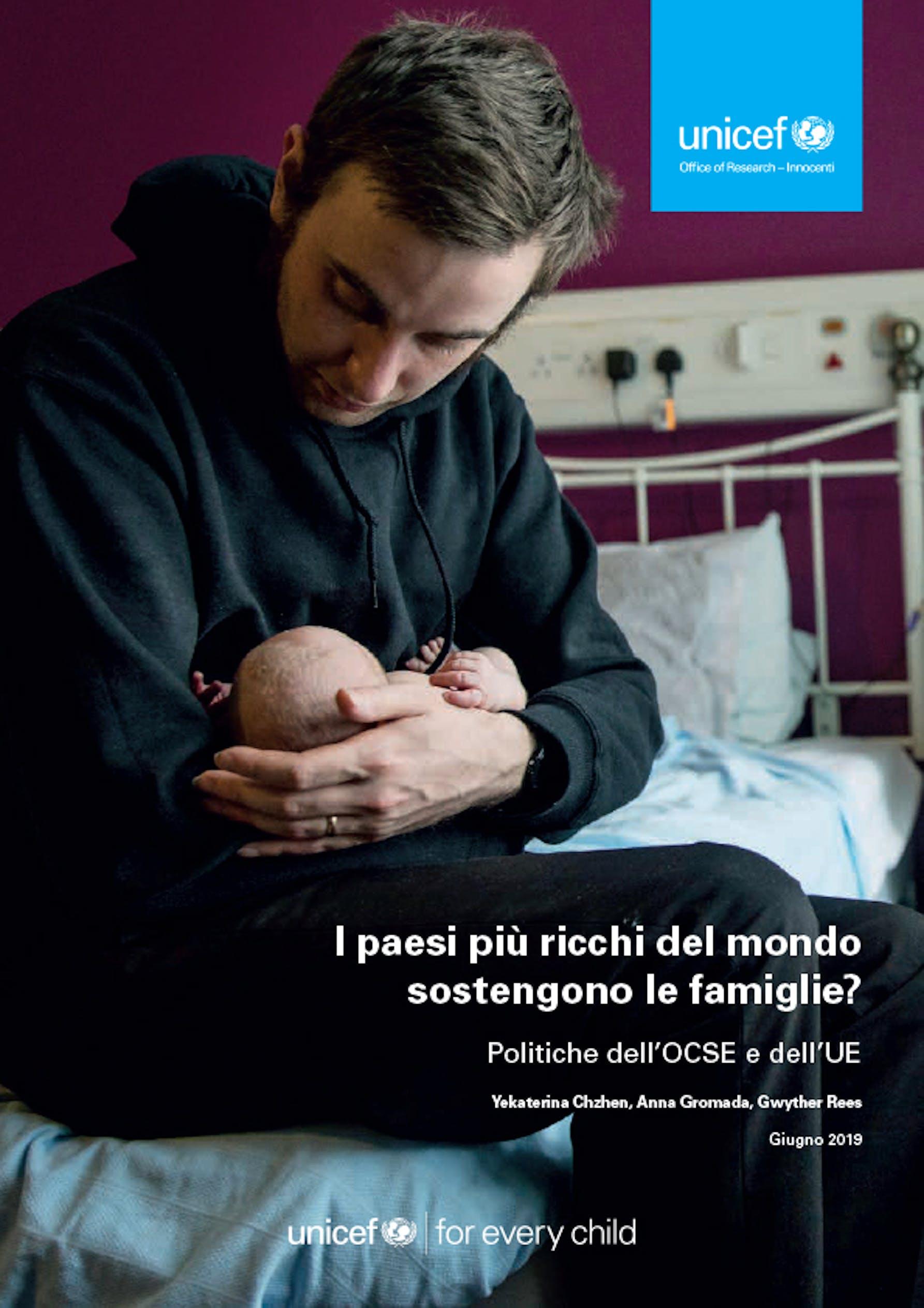 La copertina del nuovo rapporto UNICEF sulle politiche familiari nei paesi ricchi - ©UNICEF Italia/2019