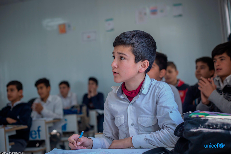 Keshti School di Erbil, in questa scuola ci sono più di 500 studenti, siriani e iracheni, la maggioranza sono siriani.  © UNICEF / UN0284849 / Anmar