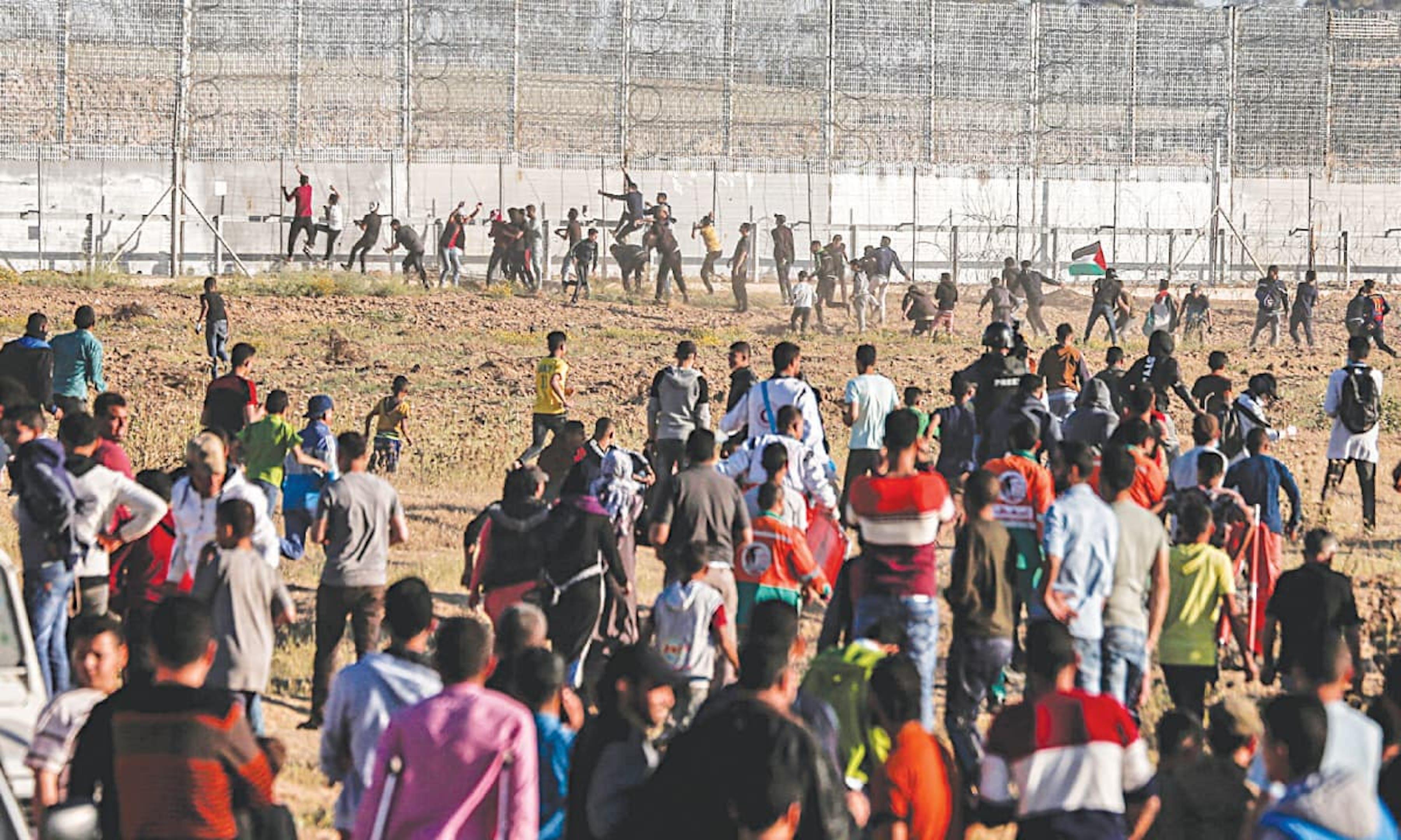 Scontri alla frontiera tra Striscia di Gaza e Israele - ©AFP