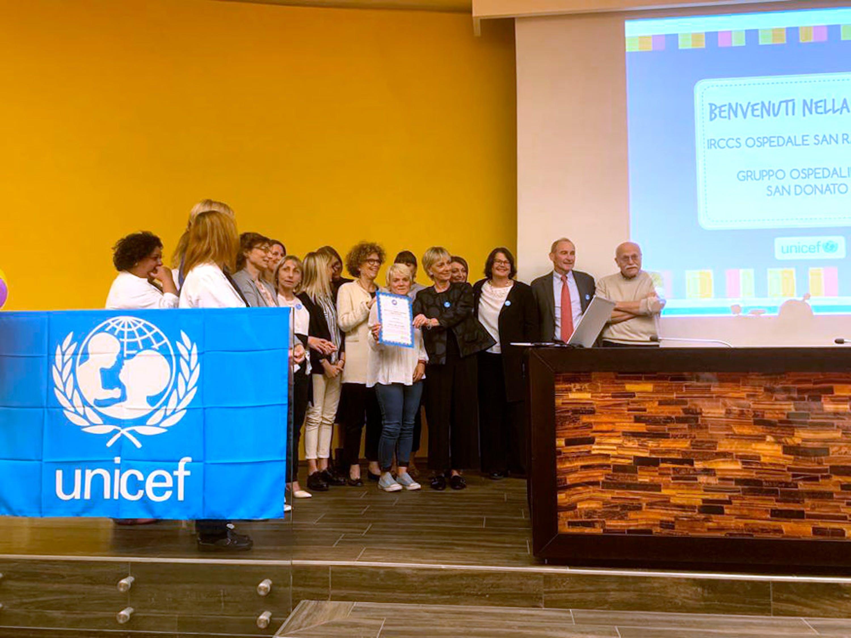 La nomina del San Raffaele di Milano a Ospedale amico dei bambini © UNICEF