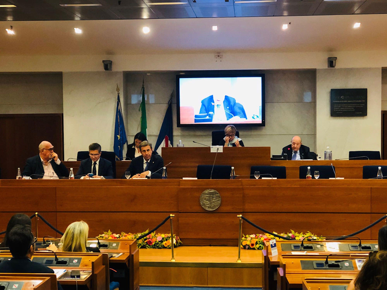 L'intervento del presidente dell'UNICEF Italia Francesco Samengo agli Stati Generali dell'Infanzia e dell'Adolescenza - ©UNICEF Italia/2019/G.De Palma/
