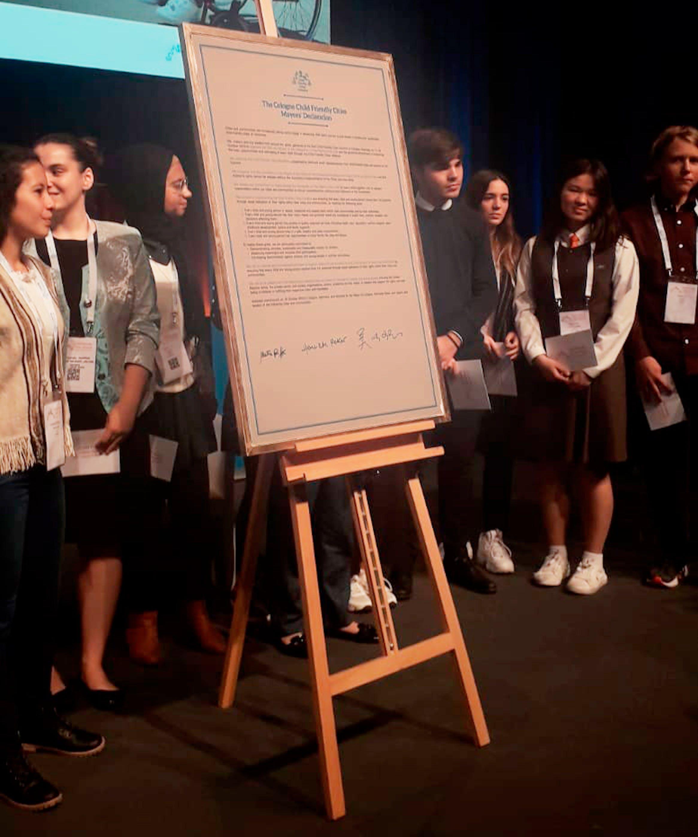 Il manifesto firmato dai 40 sindaci che hanno partecipato al summit di Colonia