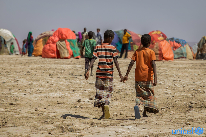 Campo per sfollati di Hadhwe, Etiopia - © UNICEF/UN0141603/Ayene
