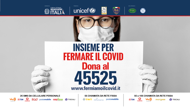 Attivato numero solidale 45525 per la campagna