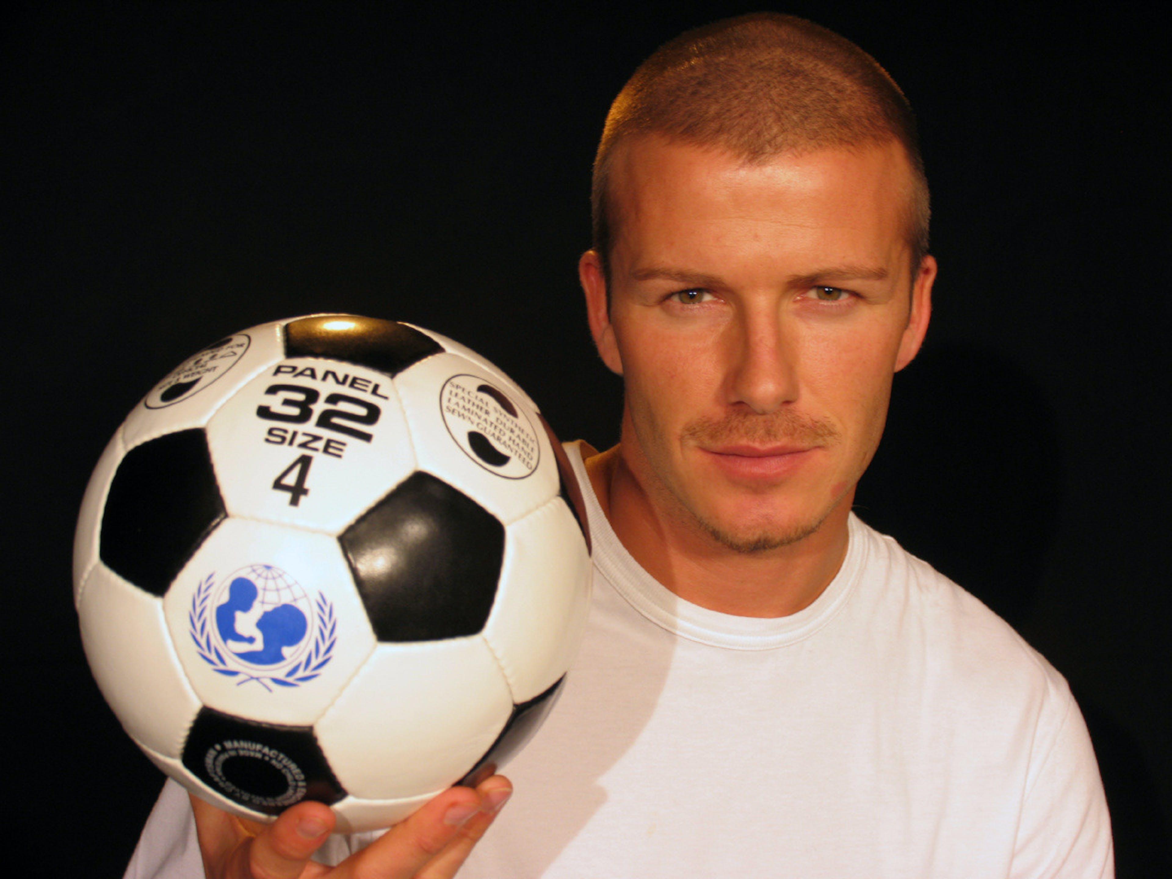 David Beckham, dal 2005 Goodwill Ambassador dell'UNICEF - ©UNICEF UK/2004/Thomas