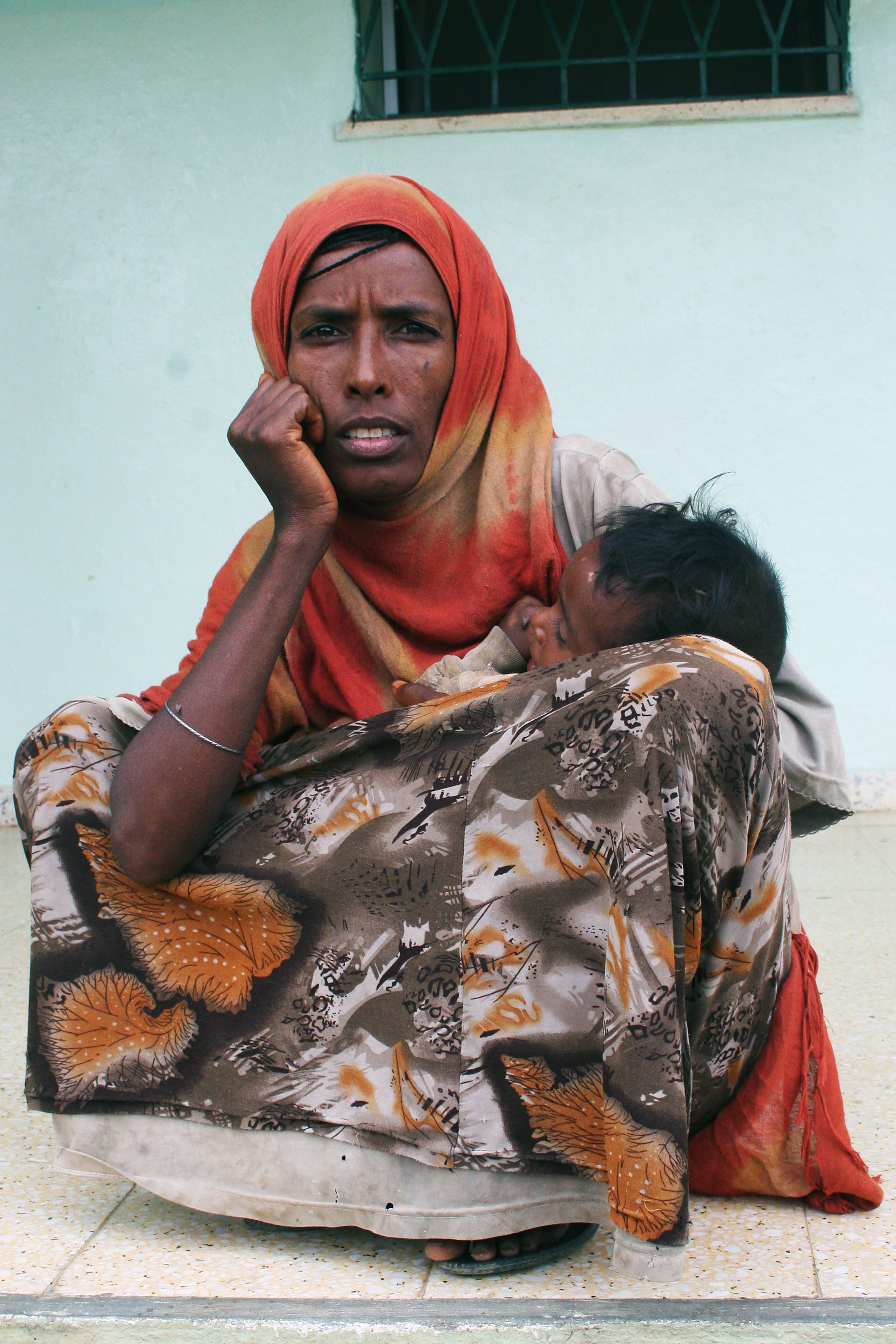 ©Patrizia Paternò. Nel cortile del Centro sanitario di Hamelmalo sostenuto dall'UNICEF, operativo dal 2008.