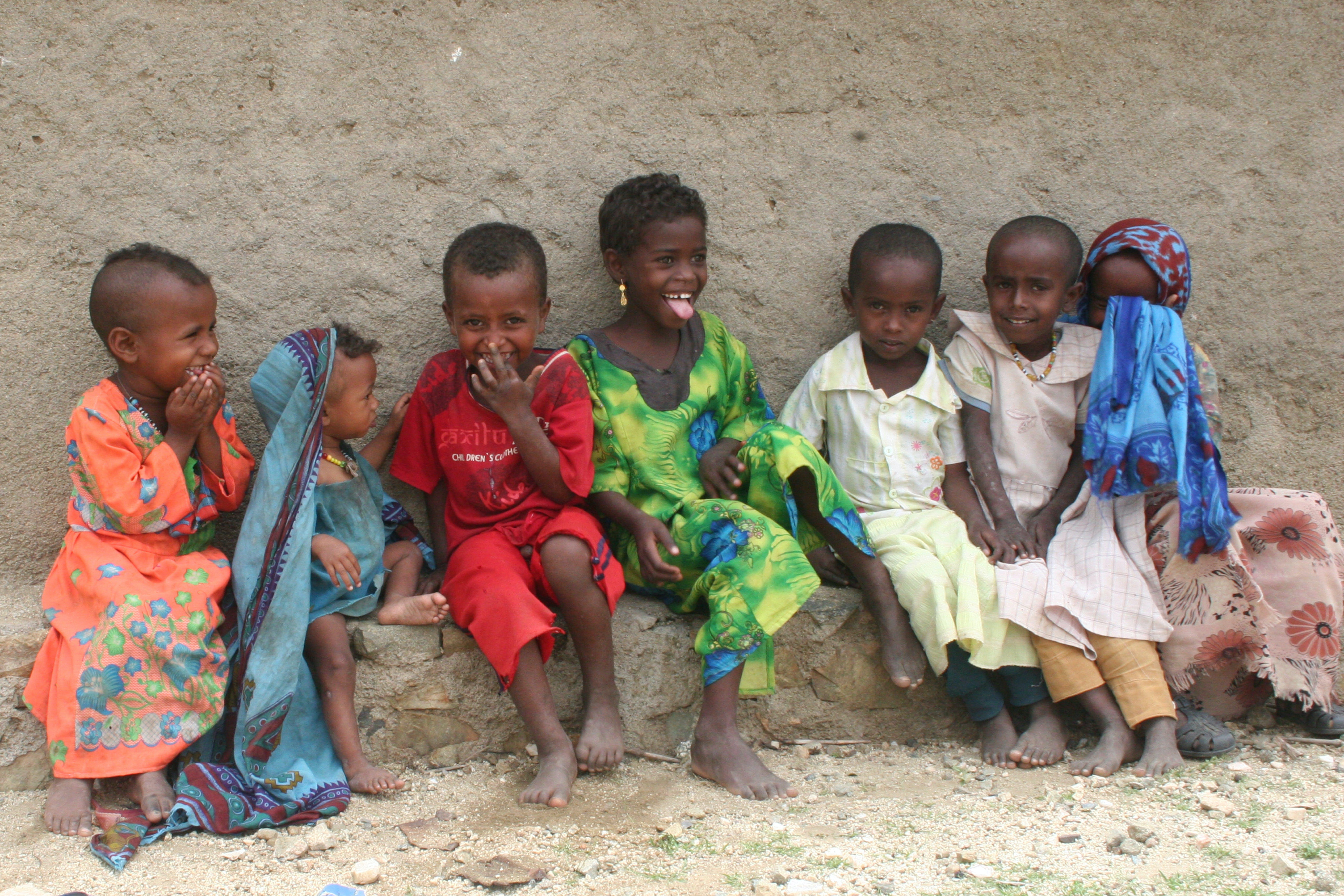 ©Patrizia Paterno/UNICEF Italia. Bambini nel villaggio di Ghezghiza