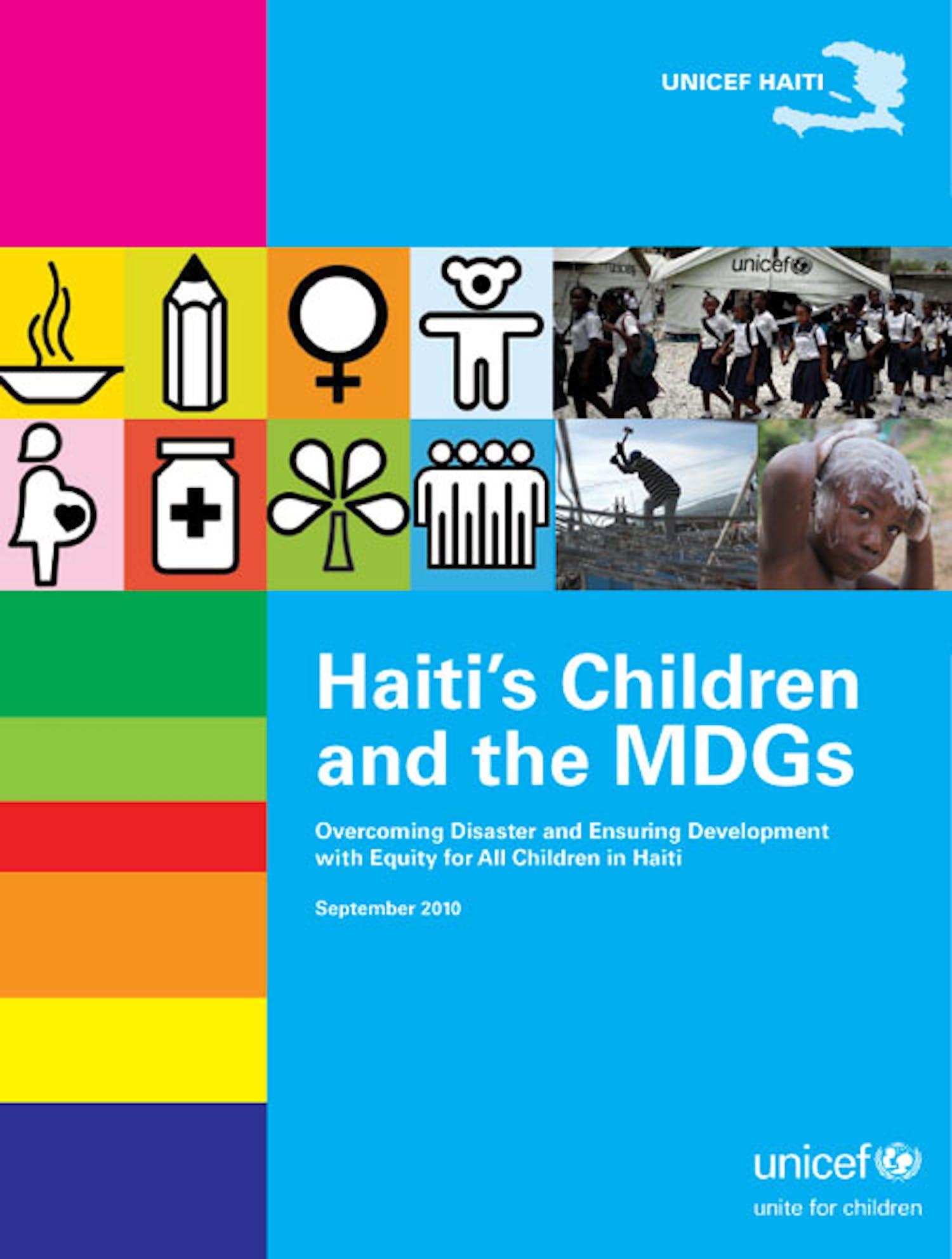 Copertina del Rapporto Haiti's Children and the MDGs
