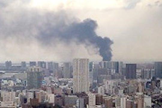 Uno dei numerosi incendi sviluppatisi a Tokio a seguito del sisma - ©UN News