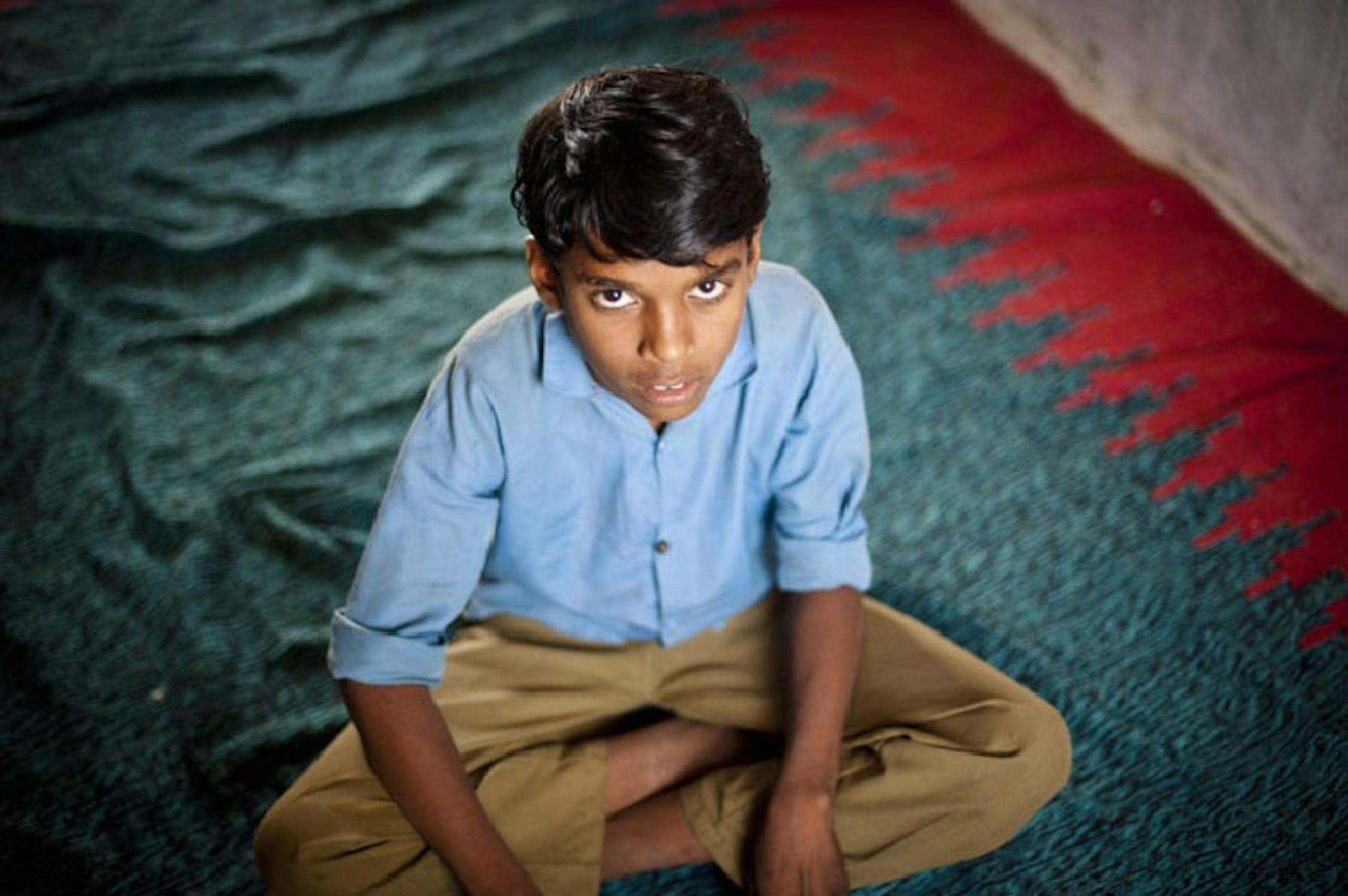 Mukesh, il bambino protagonista di questa storia - ©UNICEF India/2011/N.Hallen
