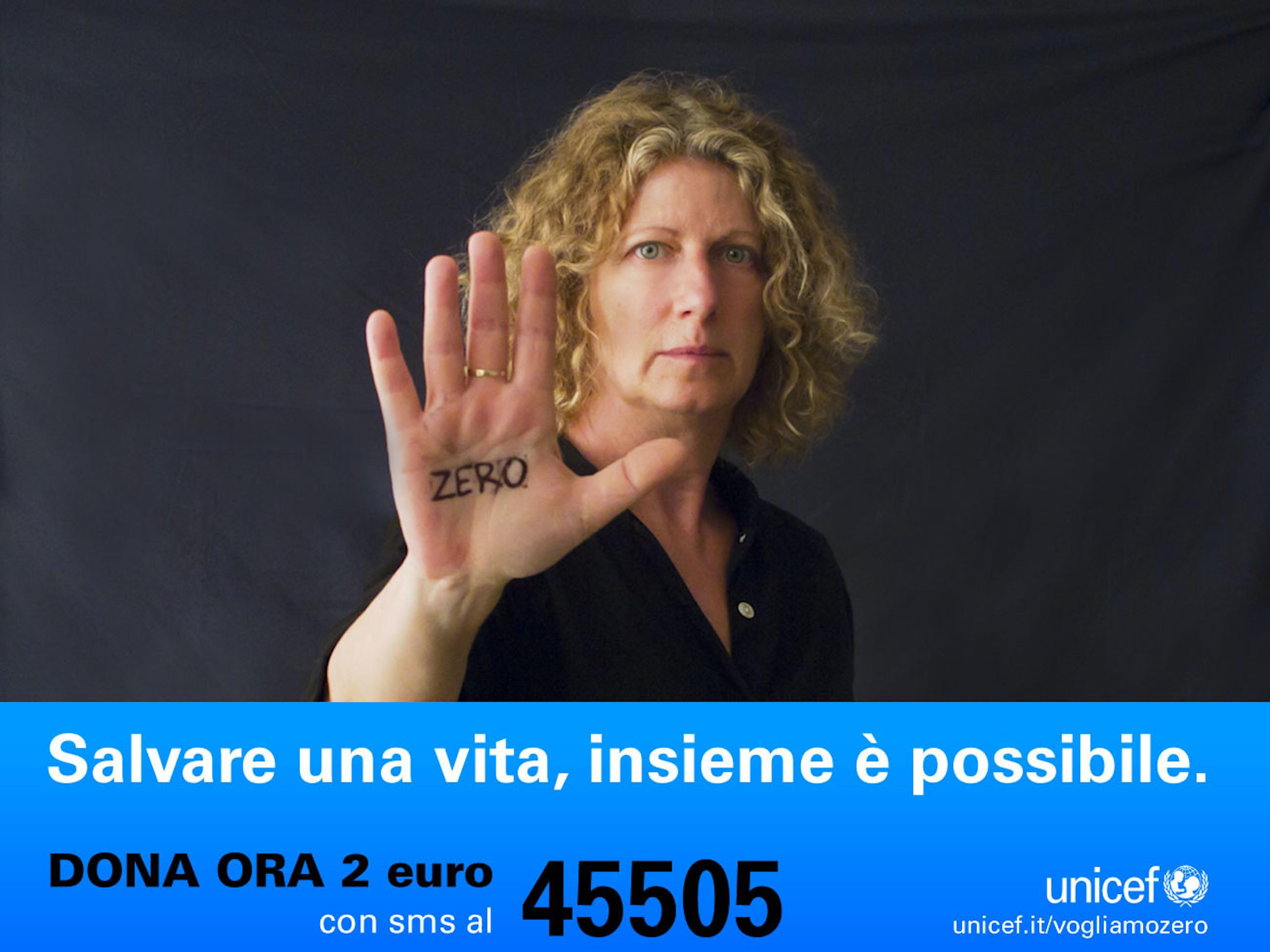 Angela Finocchiaro sostiene la campagna Vogliamo Zero